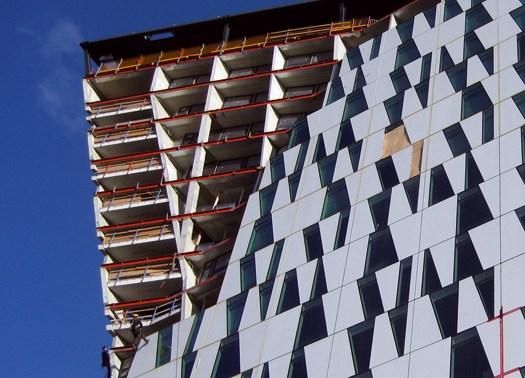 A Copenaghen le 2 torri pendenti dell'hotel Bella Sky