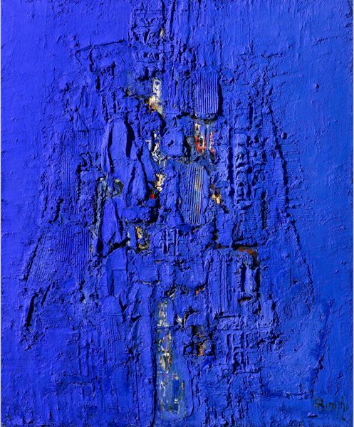 La tour pendant la nuit, Alfonso Borghi, tecnica mista su tela, cm 110x90.jpg