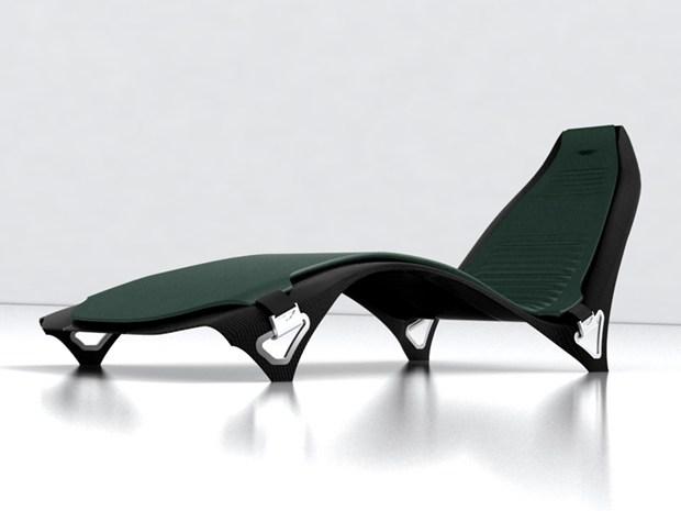 Chaise Longue Aston Martin - Design by Mirko Tattarini Monti