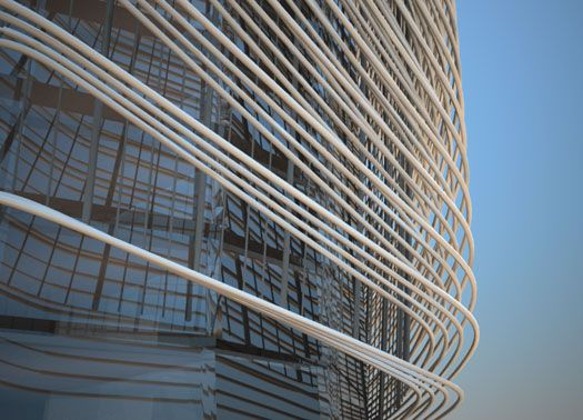 Vetro traslucido e alluminio per rifunzionalizzare la Torre di Lodi