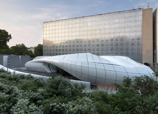 A Parigi il Mobile Art Pavilion di Zaha Hadid