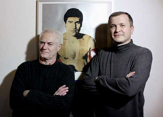 Vojteh Ravnikar (a sinistra) e Robert Potokar