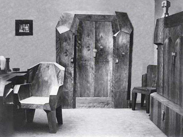 Oswald Dubach (attributed), interior in anthroposophic style, 1930s - © Rudolf Steiner Archiv, Dornach