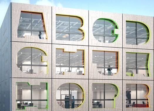 Alphabet Building: MVRD progetta un incubatore di idee ad Amsterdam