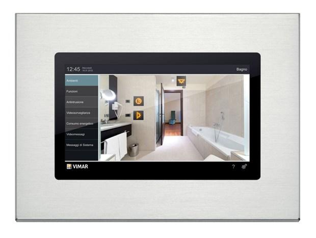 Multimedia video touch con placca in alluminio