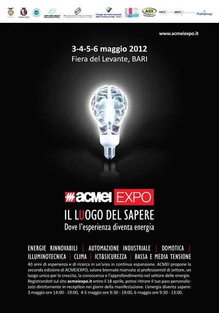 ACMEI EXPO 2012, dal 3 al 6 maggio la Fiera del Levante di Bari
