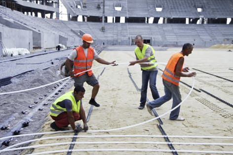Agli Europei 2012, Rehau scende in campo con i sistemi radianti
