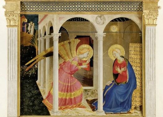 Beato Angelico, Annunciazione - Cortona, Museo Diocesano