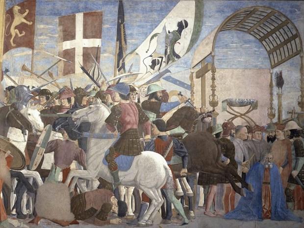 Piero della Francesca, Battaglia di Eraclio e Cosroe - Arezzo, Chiesa di San Francesco, Cappella Bacci