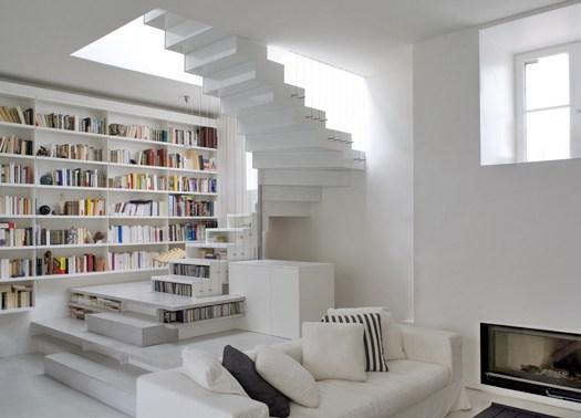 Abstraction active: un loft vestito di bianco a Parigi