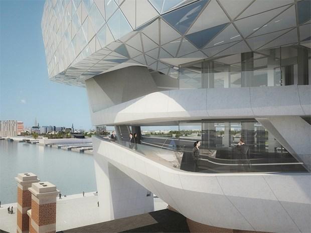Zaha Hadid dà il via ai lavori per la nuova Port House di Anversa