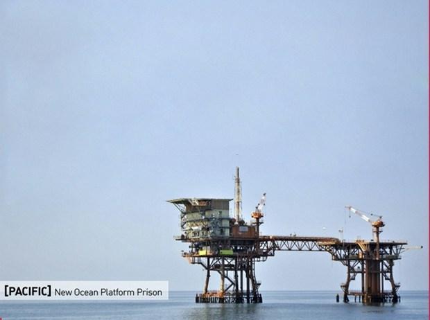 Una prigione su una piattaforma petrolifera in mezzo all'Oceano