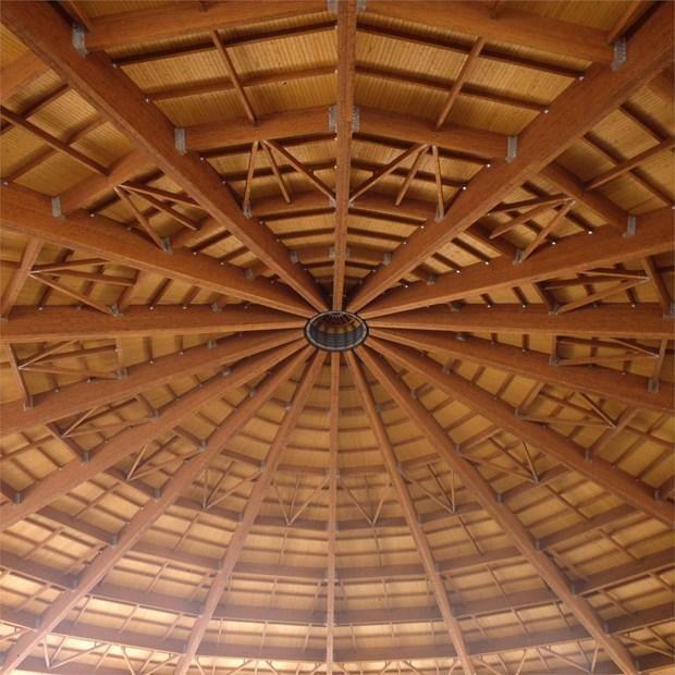 Moretti Interholz: coperture in legno lamellare e geometrie per l ...