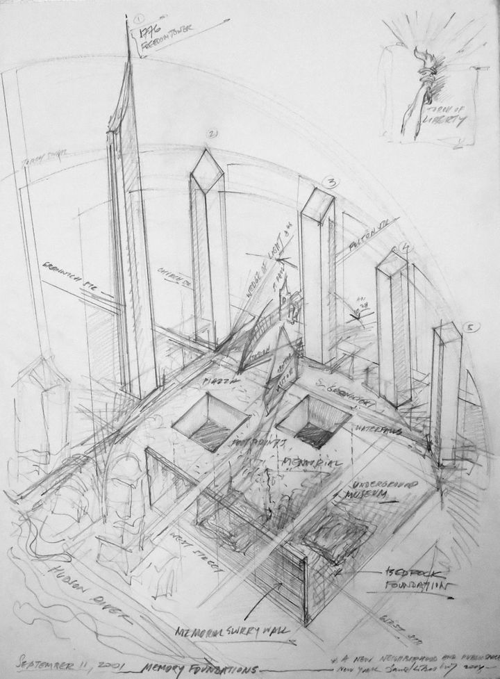 Libeskind_WordTradeCenter_2_2003_57.2x76.2_inchiostro su carta