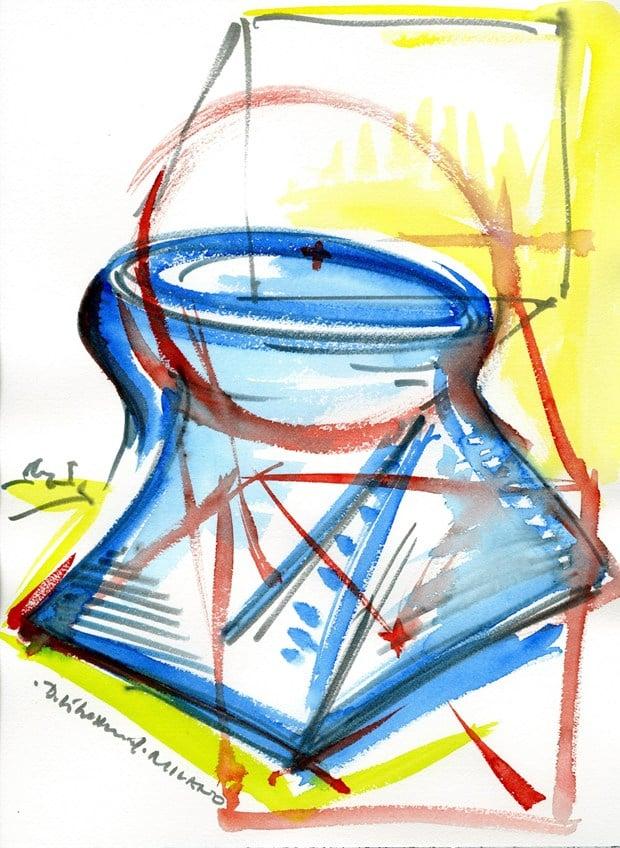 Libeskind_FieraMilanoMuseum_4_2008_30.5x40.6_acquarello su carta