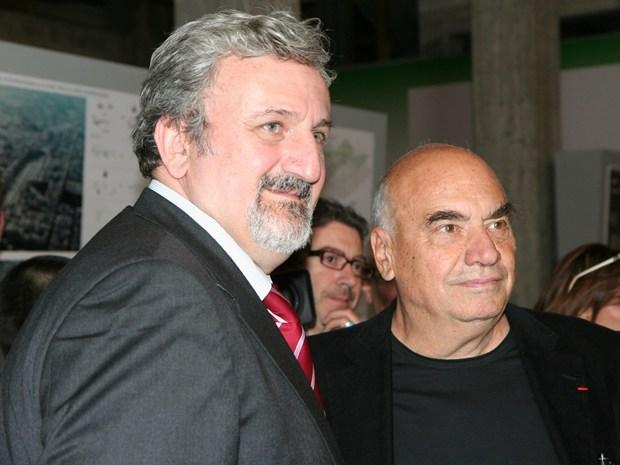 Massimiliano Fuksas e Michele Emiliano - © Cecilia Di Marzo, Redazione Archiportale