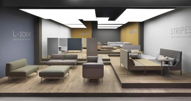 Giulio Marelli @ iSaloni 2013, le collezioni Stripes e L-sofa