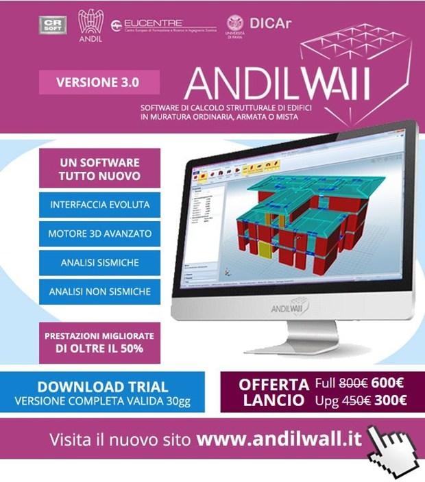ANDILWall 3: un nuovo programma di calcolo di edifici in muratura portante