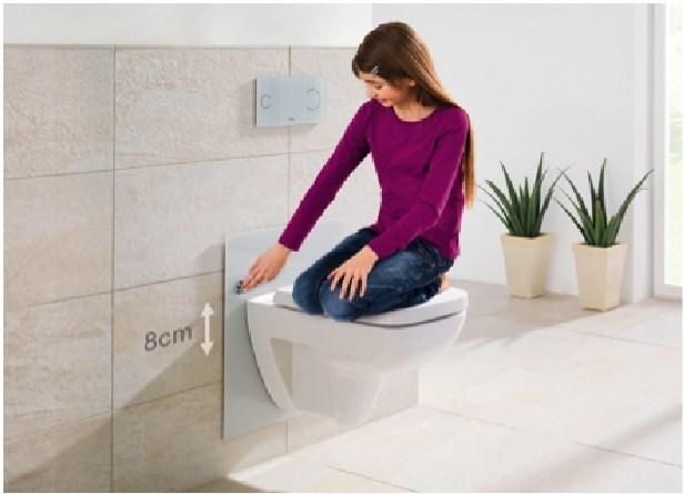 Viega Eco Plus, il wc ad altezza regolabile di Viega