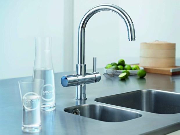 Acqua pura e refrigerata direttamente dal rubinetto con Grohe Blue®