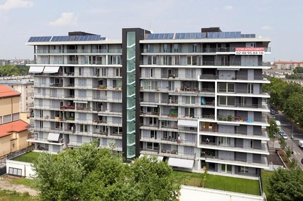 Zinco titanio VMZINC per un nuovo edificio residenziale a Milano