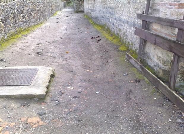 1500 mq di percorsi pedonali con Levostab 99 realizzati a Pompei