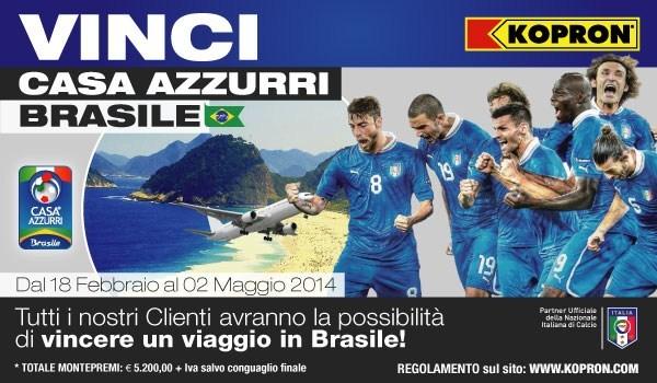 Al via il concorso 'Vinci Casa Azzurri Brasile con Kopron'