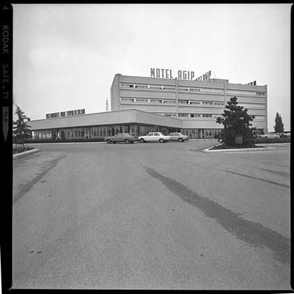 Motel Agip a Vicenza di Marco Bacigalupo e Ugo Ratti, fotografia di Giorgio Casali Università Iuav di Venezia, SBD – Archivio Progetti, Fondo Casali