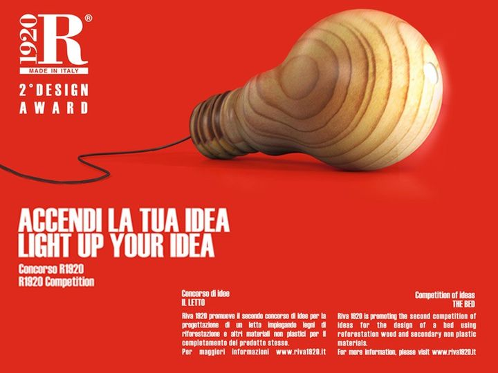 "2° Design Award ""Accendi la tua idea"" di Riva 1920"