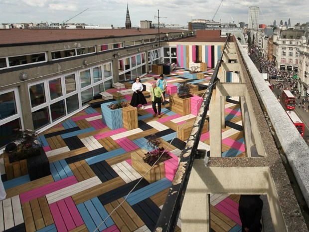 Basketweaved Rooftop a Londra by Studio Weave