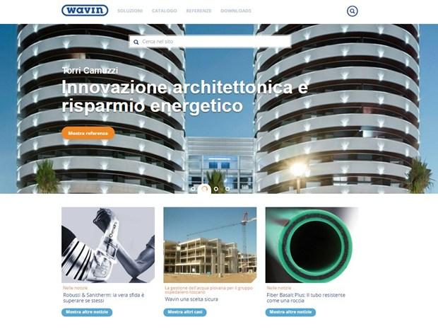 Wavin Italia: da oggi online il nuovo Sito Web