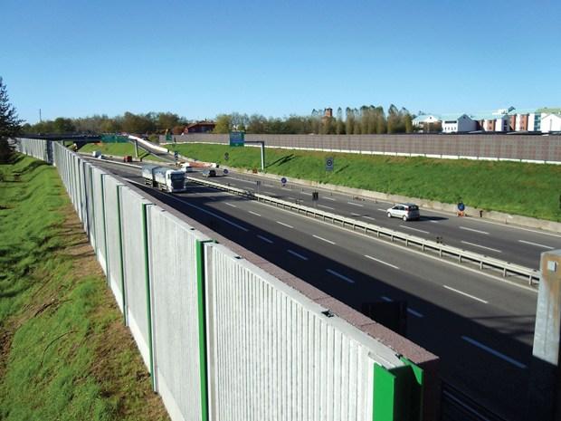 Barriere acustiche Anpel lungo la tangenziale ovest di Pavia
