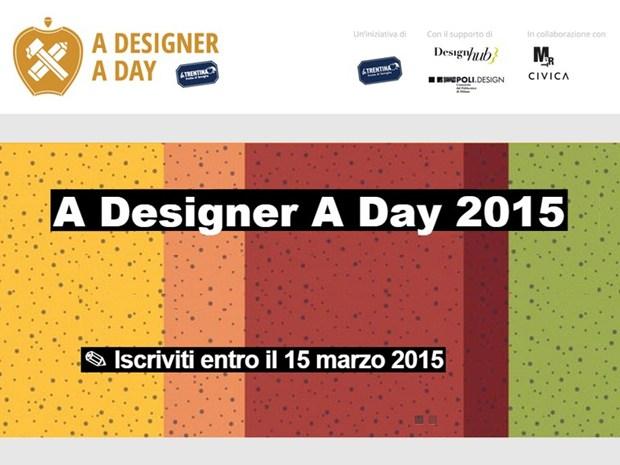 Al via l'edizione 2015 di 'A Designer A Day'