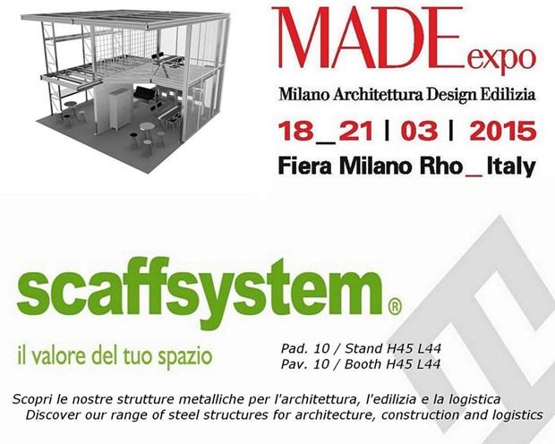 Scaff System partecipa a MADEexpo 2015