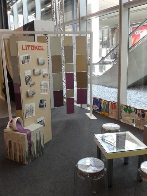 Al Salone del Mobile 2015 Litokol ha presentato il sigillante innovativo Starlike® insieme a Material Connexion