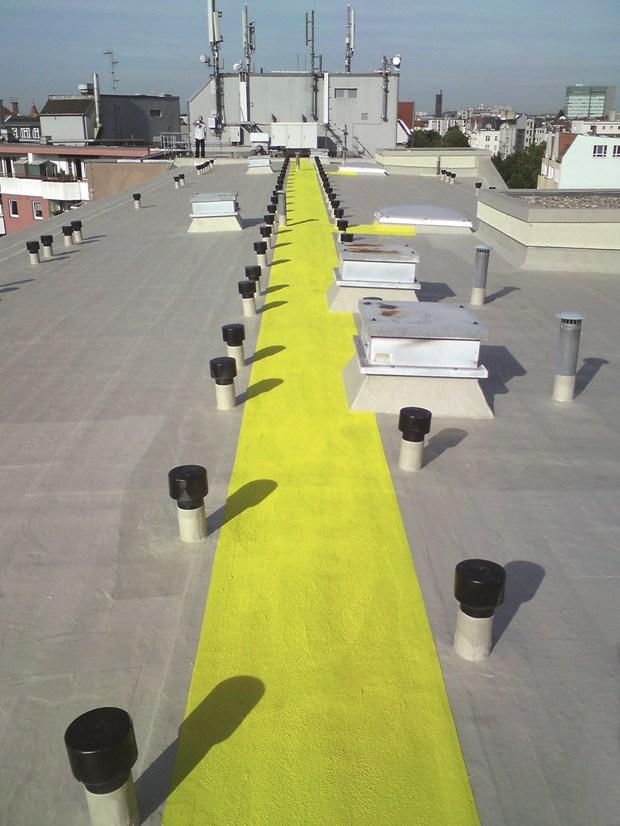 Impermeabilizzazione di tetto piano con dettagli costruttivi complessi con sistemi Triflex