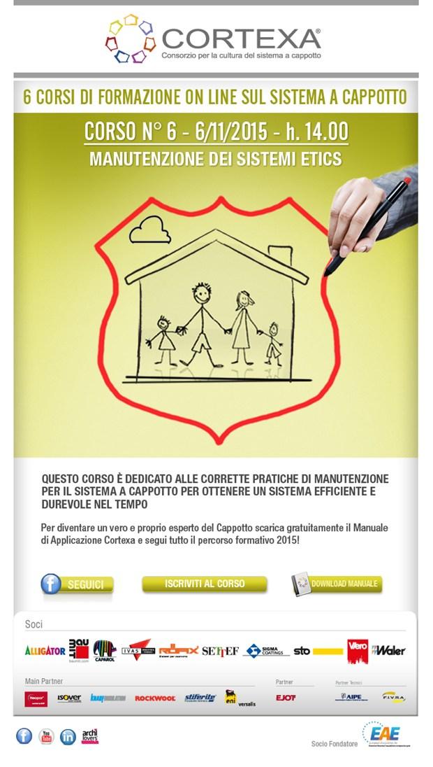 6° webinar Cortexa 2015: 'Manutenzione dei Sistemi Etics'