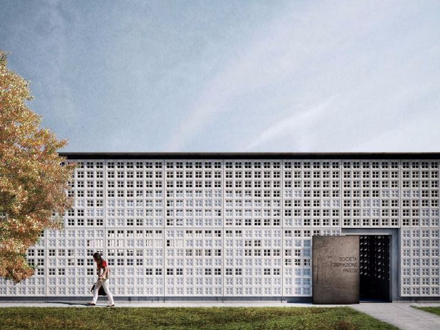 Un nuovo edificio presso il cimitero monumentale di Pavia