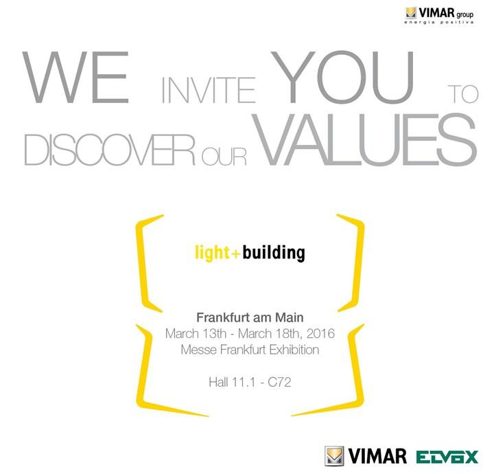 Vimar a Light + Building 2016