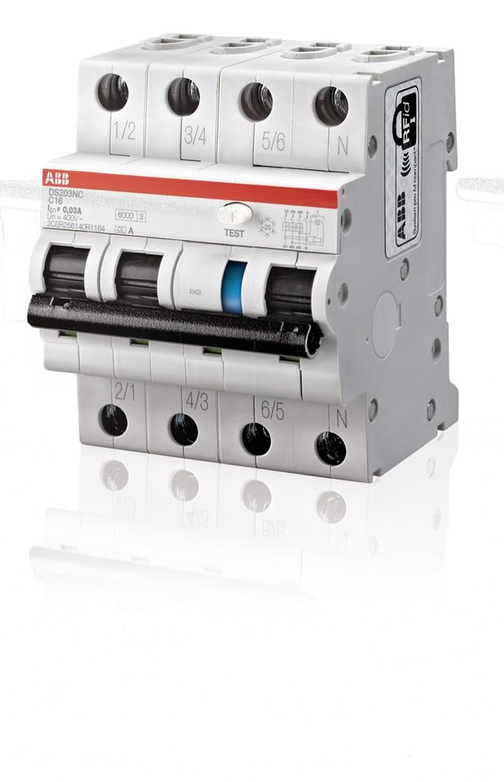ABB presenta DS203NC, interruttore magnetotermico differenziale
