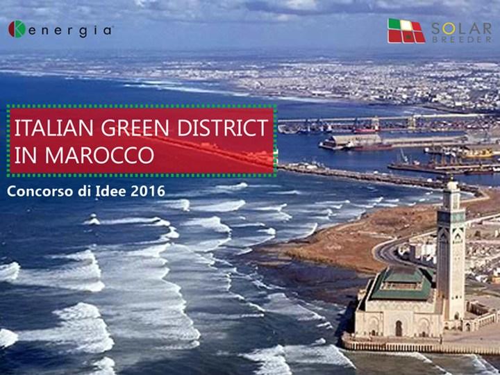 Al via 'Italian Green District in Marocco' del Gruppo Kenergia