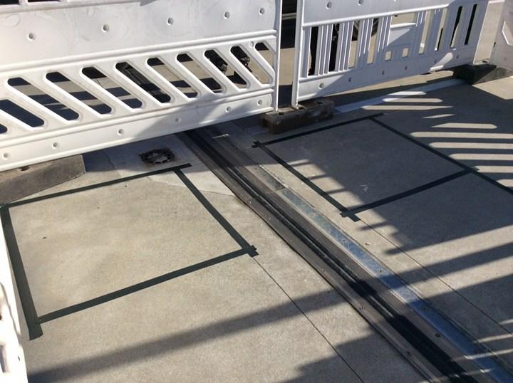 Giunto da impermeabilizzare nel parcheggio esterno