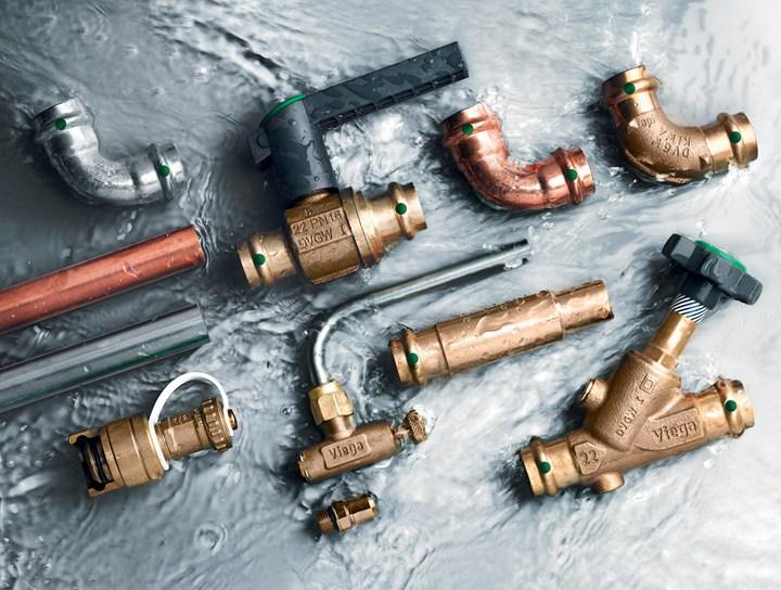 Viega, scelta e accoppiamento dei materiali costruttivi degli impianti di acqua sanitaria
