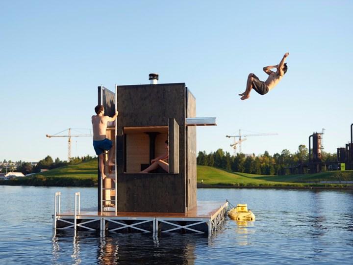 Un'idea di sauna oltre i confini della staticità