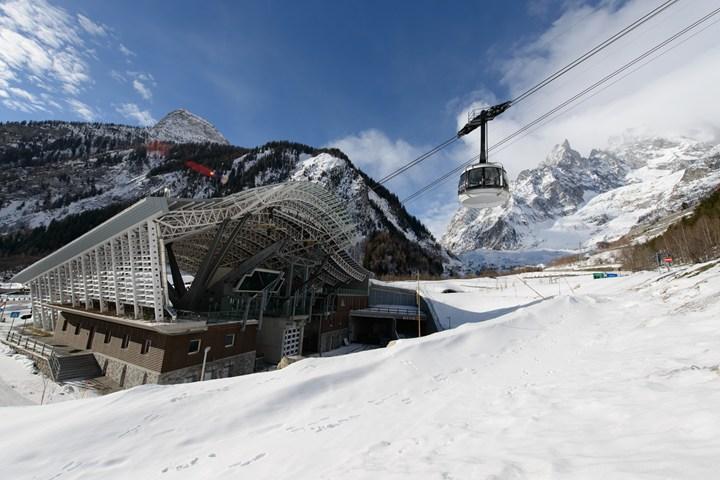 Wienerberger sul tetto del Monte Bianco per la nuova funivia SkyWay