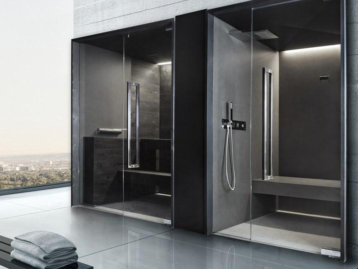Sauna e bagno turco dallo stile urban ed essenziale