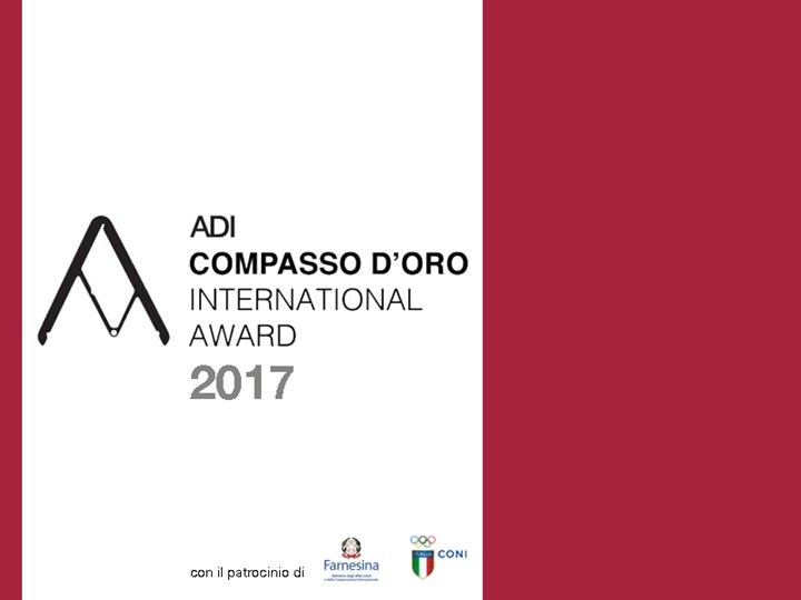 ADI Compasso d'Oro International Award 2017