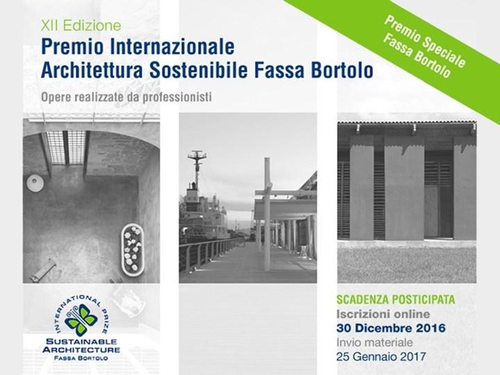 XXII Premio Internazionale Architettura Sostenibile Fassa Bortolo