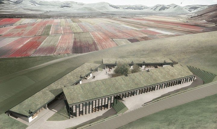 Castelluccio di Norcia, ecco la struttura commerciale temporanea e reversibile