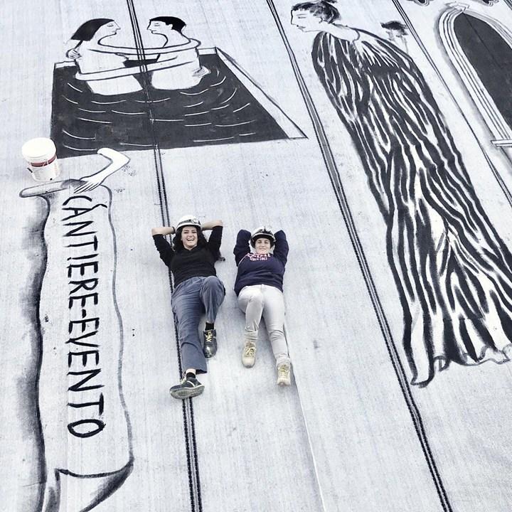 Milano: il cantiere va di moda